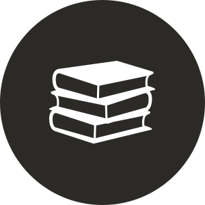 our curriculum stack of books icon