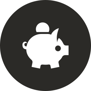 financial aid piggy bank icon